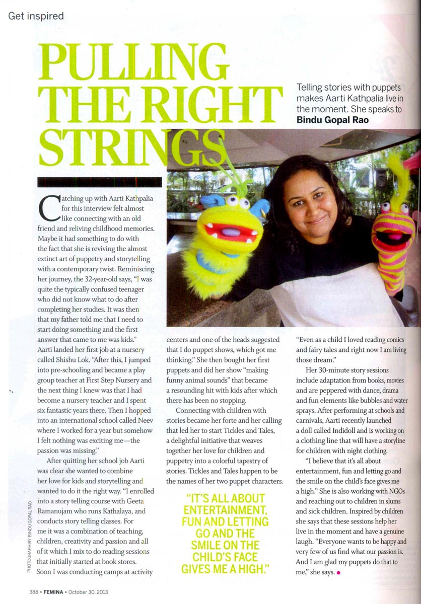 Femina Article covering Ticles & Tales